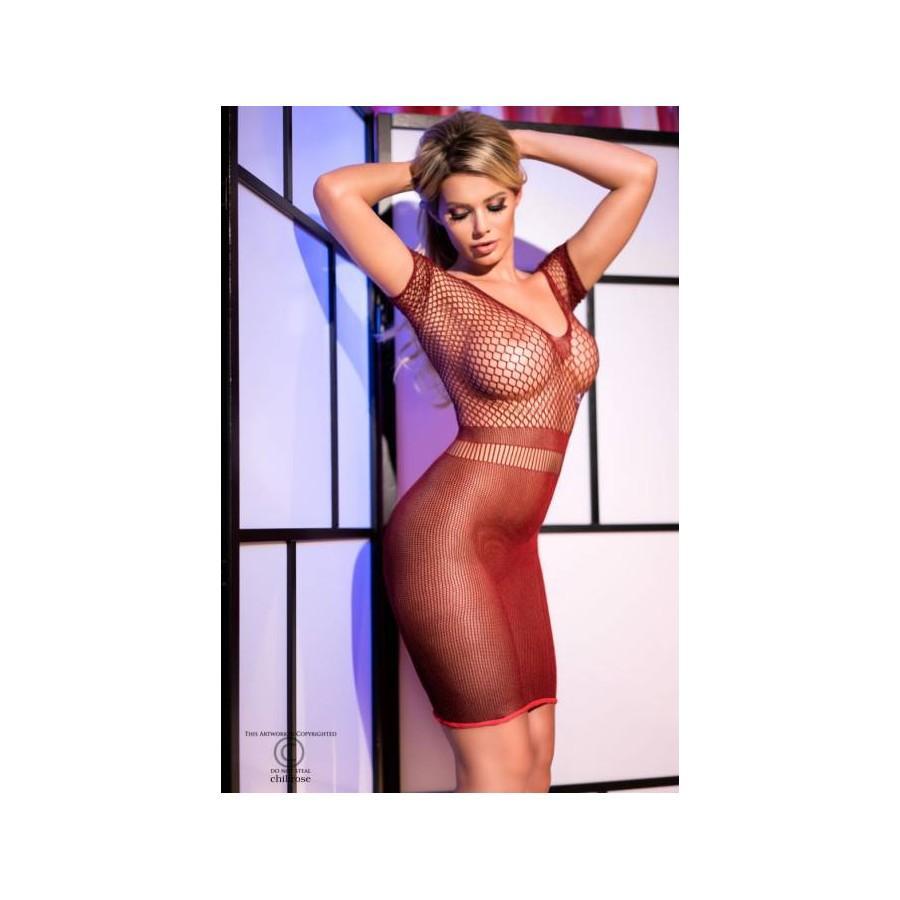 Red Chilirose mesh dress