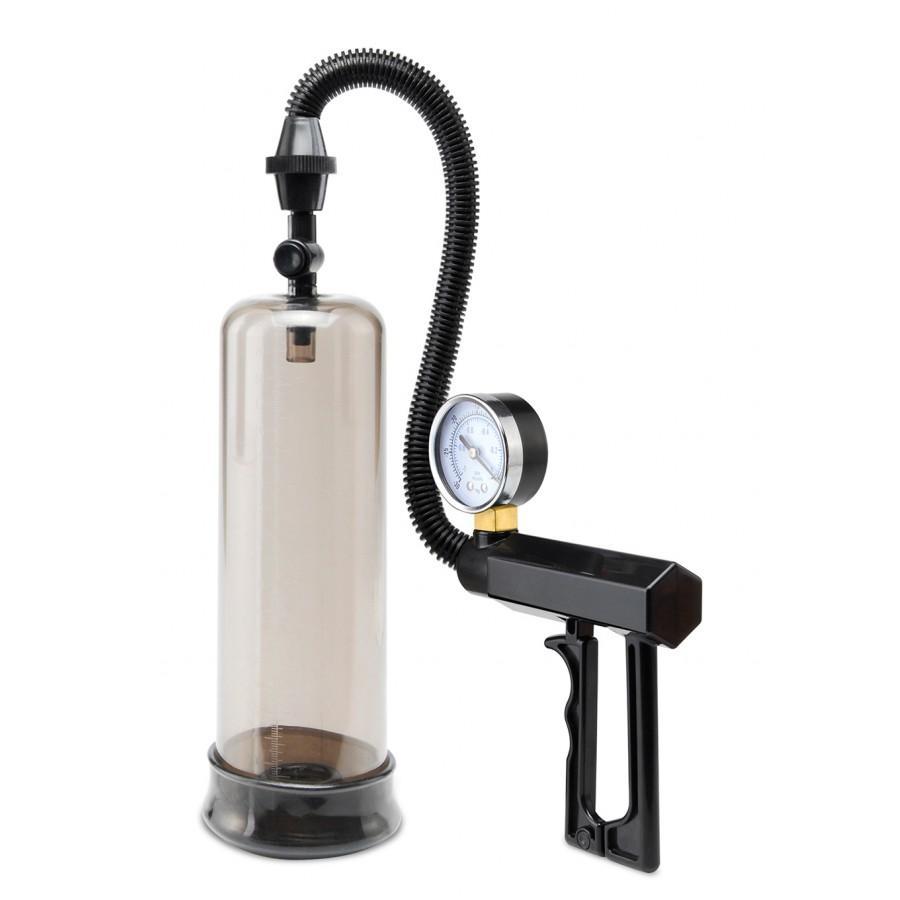 Pump with a penis enlargement gun